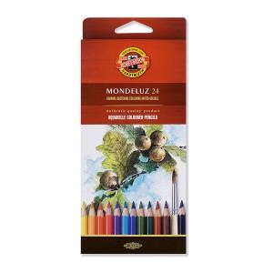 """Set Of Aquarel Col-Pencils """"Mondeluz"""" 24 Pcs"""