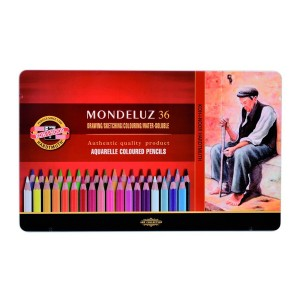 "Set Of Aquarel Col-Pencils ""Mondeluz"" 36 Pcs"