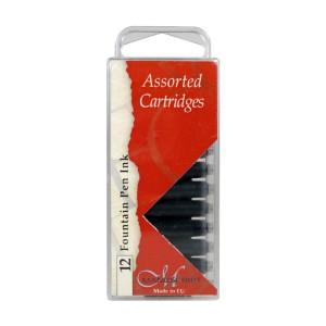 Calligraphy Black Ink Cartridges 12pcs