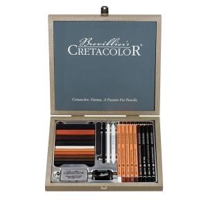 Sketchingbox Passion 25 Pieces Wood Bo,Cretacolor