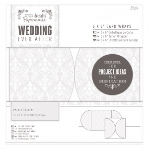 "6 x 6"" Card Wraps (25pk) - Wedding - Damask"