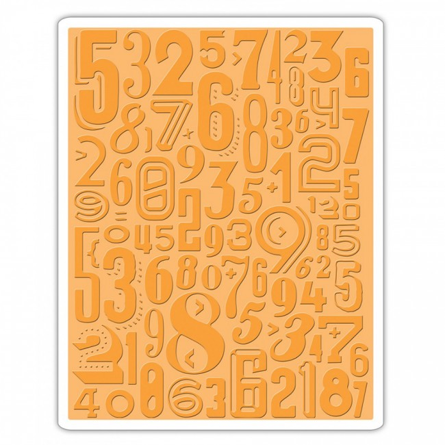 Tekstuurplaat  Numeric By Tim Holtz