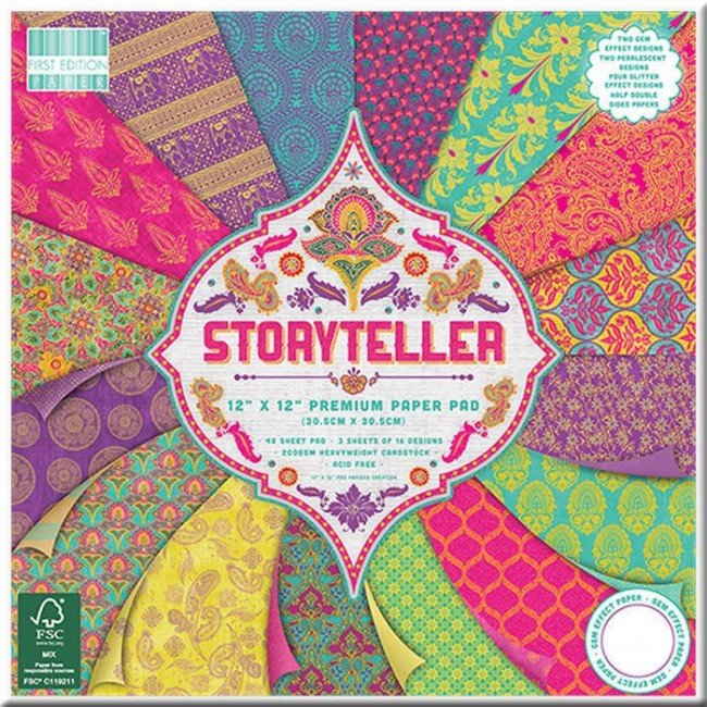 30x30cm Scrapbookingu  paberiplokk, Storyteller