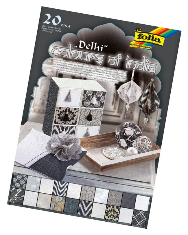 "Dekoratiivpaber""Colours of India""DELHI A4, 20lehte"