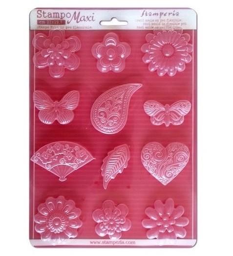 Painduvast Pvc plastikust vormid-Flowers, hearts and butterflies