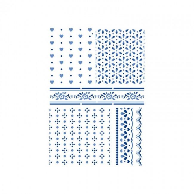 Šabloon G cm 21x29,7 Texture Cloths