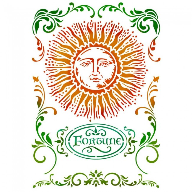ŠabloonG cm. 21x29,7 Alchemy Sun