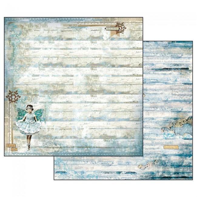 Scrapbookingu paber 30x30cm  Blue Stars Fairy with Star