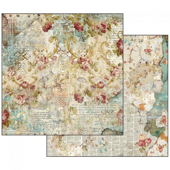 Scrapbookingu paber 30x30cm Time is an Illusion Floral Texture