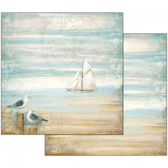 Scrapbookingu paber 30x30cm Sea Land seagulls