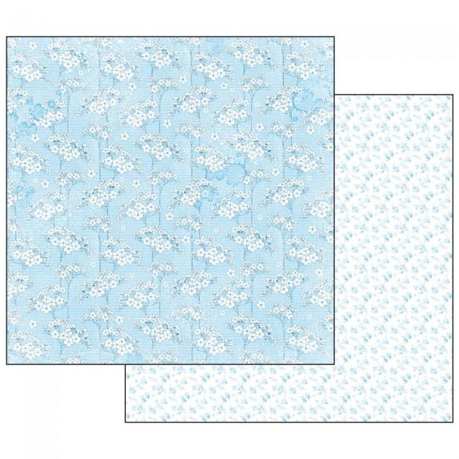 Scrapbookingu paber 30x30cmBaby Boy flowers tapestry