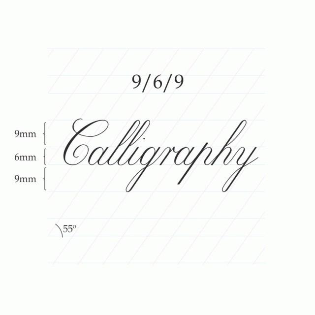 Copperplate Calligraphy 9/6/9mm  – A4 (Portrait) Paberiplokk