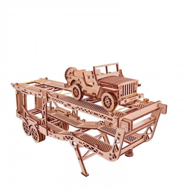 Puidust konstruktor«Car trailer» (addition for Big Rig)