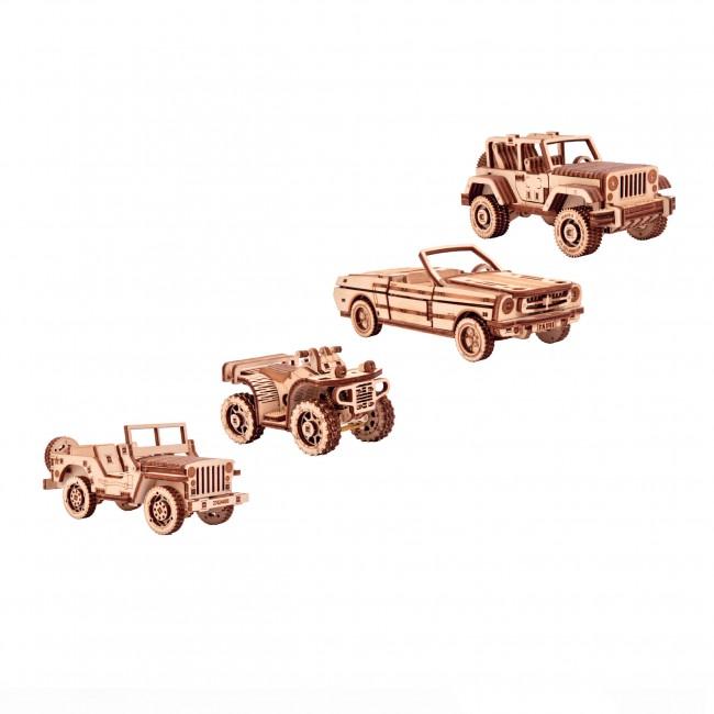 """Puidust konstruktor""""Set of cars"""""""