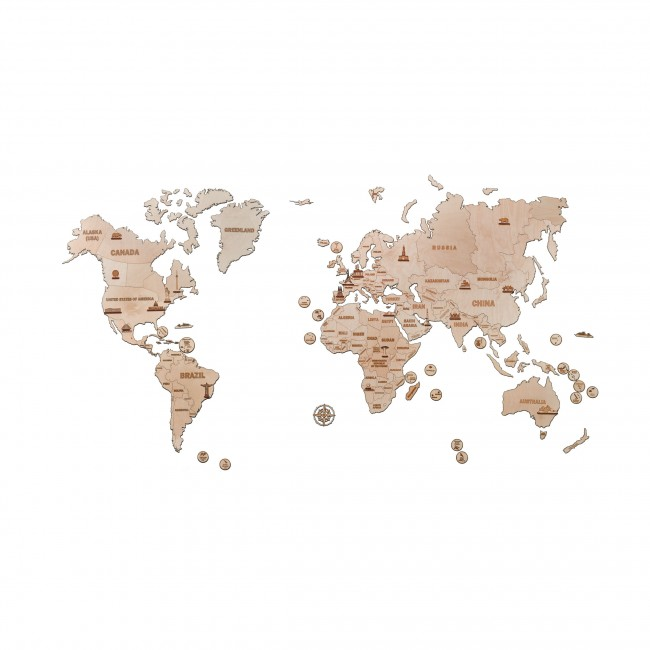 Puidust konstruktor «World Map XXL»