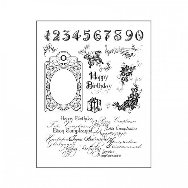 "Silikoontemplid   14X18Cm, Viva Decor, ""Happy Birthday"""