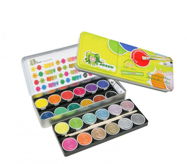 "Akvarellpliiatsid ""Jolly""  MIX metallkarbis 24 värvi"