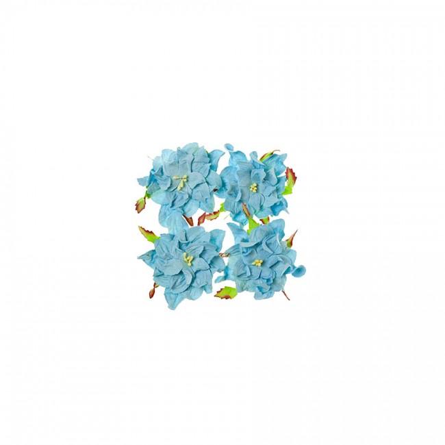 Gardenia 7Cm 4 Pcs In A Pack Soft Blue