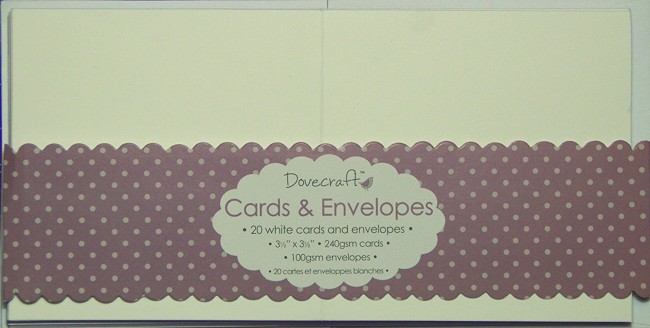 Kaarditoorikud+Ümbrikud Dovecraft Mini White 8.9x8.9cm
