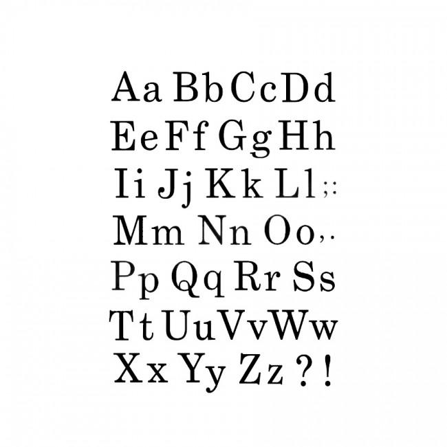 Sabloong Cm.21X29,7 Alphabet - Various Font