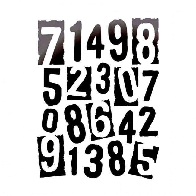 Sabloon  20X25Cm/0,2Mm  Numbers