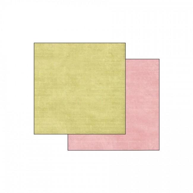 Scrapbookingu Paber 30X30 -  Texture Green/Pink