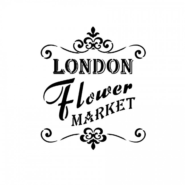 Sabloon  A4 ,London Flower Market,Viva Decor