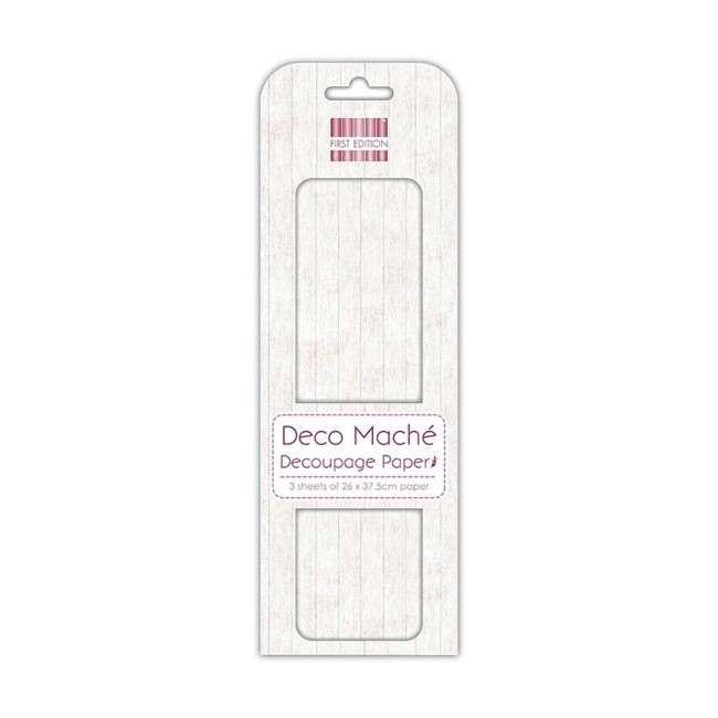 First Edition Fsc Deco Mache  White Wood