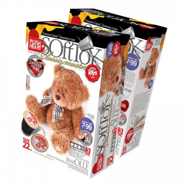 457001E  Käsitöö K-T Plush Heart «Olle Bear»