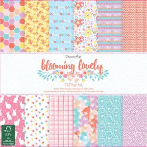 20x20cm Scrapbookingu  paberiplokk.Dovecraft Blooming Lovely