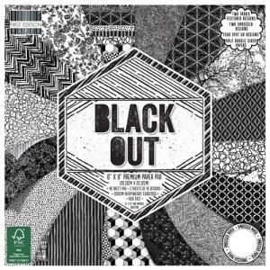 20x20cm Scrapbookingu  paberiplokk, Black Out