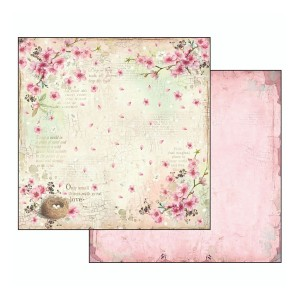 Scrapbookingu paber 30х30cm-Flower Alphabet nest