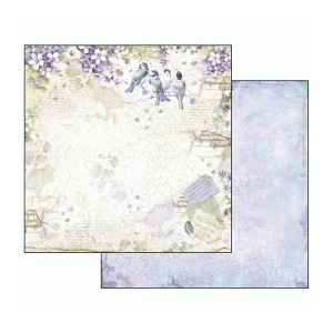 Scrapbookingu paber 30х30cm-Flower Alphabet wisteria