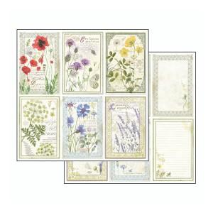Scrapbookingu paber 30х30cm-Herbarium cards