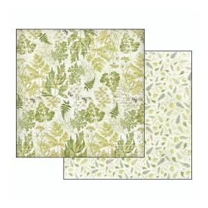Scrapbookingu paber 30х30cm-Herbarium texture Leaves