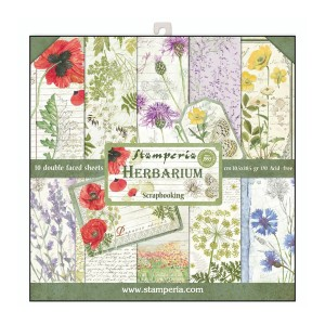 """30x30cm  paberiplokk, Stamperia  """"Herbarium"""""""