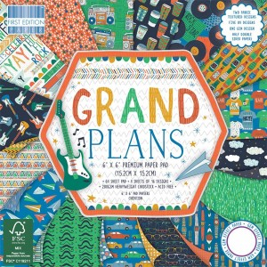 15x15cm paberiplokk Grand Plans