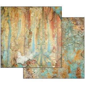 Scrapbookingu paber 30x30cm  Time is an Illusion Rust Effect