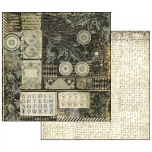 Scrapbookingu paber 30x30cm Alchemy Alphabet