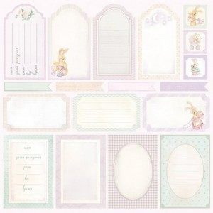 Double side cardstock 30x30 190 gsm  Little Bunny Cards