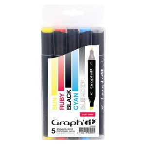 Komplekt GRAPH'IT Marker 5tk  - Basic