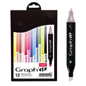 Komplekt GRAPH'IT Marker 12tk - Classic