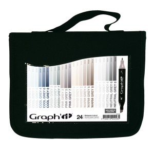 Komplekt GRAPH'IT Marker 24tk, pinal  - Greys