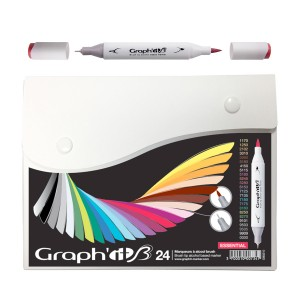 Komplekt Graph'it Brush Marker 24tk Brush Markers - Essential