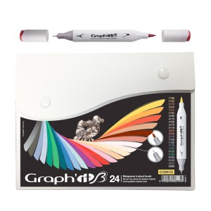 Komplekt Graph'it Brush Marker 24tk Brush Markers - Comics
