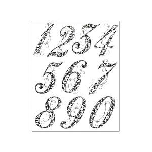 """Silikoontemplid   14X18Cm, Viva Decor, """"Anniversary Numbers """""""