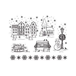 "-50%Silikoontemplid   14X18Cm, Viva Decor, ""Christmas Town"""