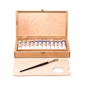 Õlivärvide komplekt Master-Class 12x18ml, puukarbis