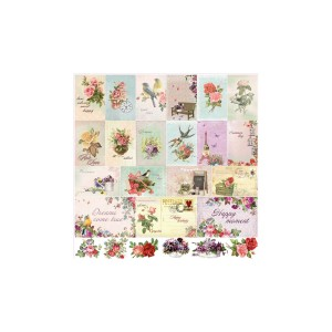 Scrapbookingu paber 30x30 cm-  180Gsm  French Journey Cards