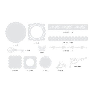 12 Paper Decorations - White Paper